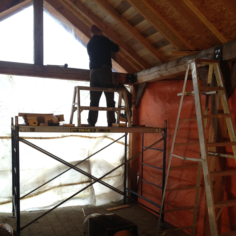 Garage Roof | Construction Worker