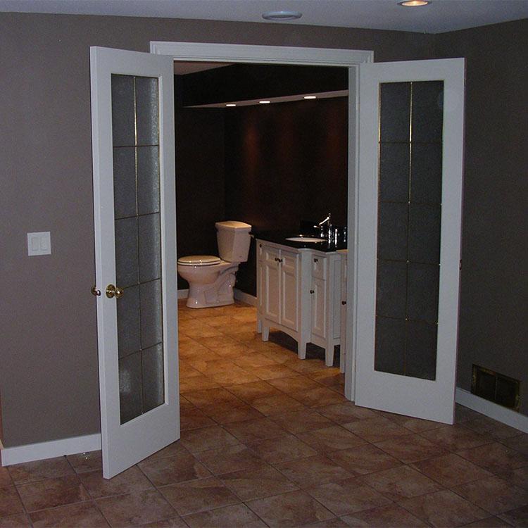 french doors | bathroom